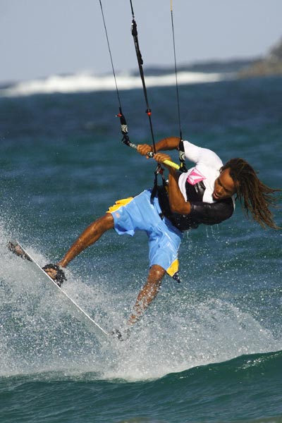 St Lucia Kitesurfing at Sandy Beach
