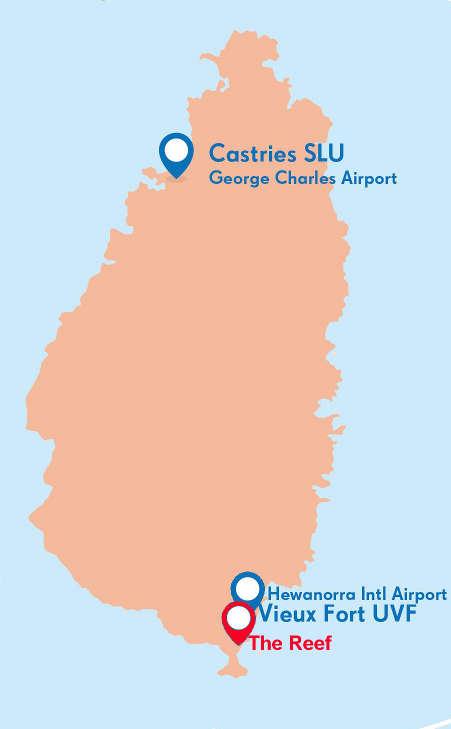 hewanorra international airport map Caribbean Kitesurfing Holidays Vacations hewanorra international airport map